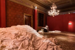 Fig 4. Shilpa Gupta, 998.9, 2015, Performance and Installation View, photo Mark Blower